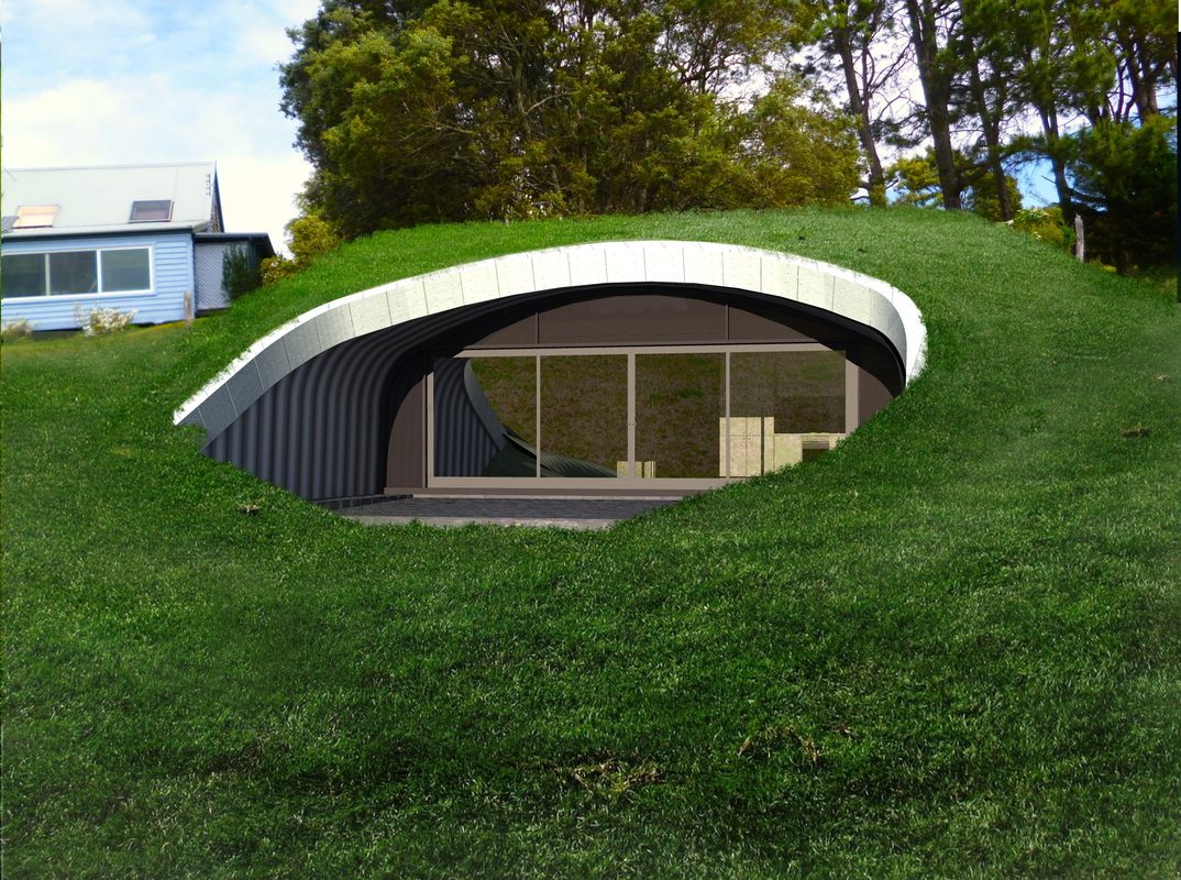 Modern Earth Shelter House Style Design And